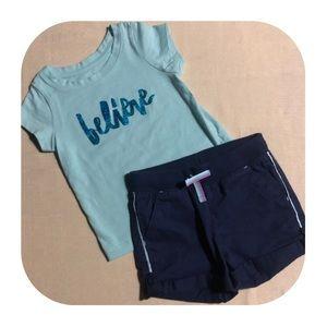 Cat & Jack T-shirt & Shorts Girls 18M